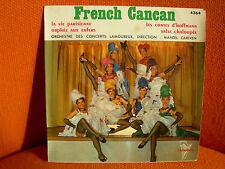 VINYL 45 T – ORCHESTRE LAMOUREUX MARCEL CARIVEN : FRENCH CANCAN 4 TITRES