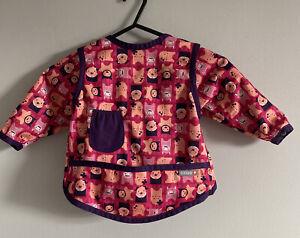 Close Baby Girl Activity Bib Pink & Purple Monster Print