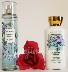 BATH AND BODY WORKS - BLOOMING GARDEN - BODY LOTION AND MIST (SET) - NEW