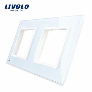 LIVOLO RESTPOSTEN Nur Glasblende Neuware 2 Fach VL-LL-SR-SR-11 Weiß mit Logo