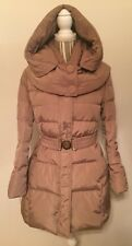 Women's Shiny Beige Coat with Gold Accents- Size M/L