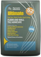 Highly Flexible Fast Wall/Floor Tile Adhesive in GREY 20kg (S2 Rating)