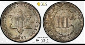 💙💎😱😍PCGS MS65 1851 3 CENT SILVER