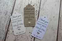 Rustic Wedding Favour Tags Thank you for sharing our first meal together(N)