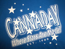 """Cannaday """"Where Stars Are Made!"""" Est. 1988 Blue 50/50 Graphic Print T Shirt - M"""
