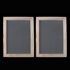2x 19x25cm Wood Paper Making Papermaking Screen Printing Frame Wooden Molds