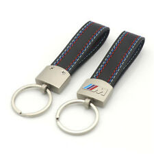 Leather Belt Chrome Keyring Keychain Key Chain For BMW M Sport E46 E39 E60 F30 E