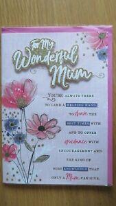 WONDERFUL MUM EXTRA LARGE SIZE BIRTHDAY GREETING CARD