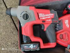 Milwaukee M12 Li-ion SDS Hammer Drill with 4ah and 2ah batteries and charger