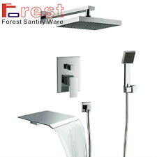 In Wall Bath shower faucet Luxury 3 use Waterfall Tub Faucets Mixer with Handle
