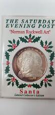 1999 Santa 20 Gram Silver Coin, Saturday Evening Post, Norman Rockwell Art