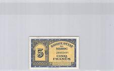 MAROC 5 FRANCS 1.3.1944 N° 24432491