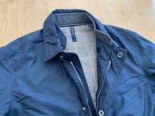 Zegna Sport coat / jacket blue  Large / 42  Microtene Ermenegildo raincoat