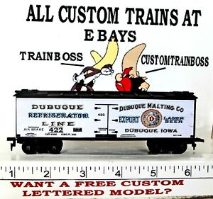HO CUSTOM LETTERED DUBUQUE BEER FREIGHT CAR COLLECTIBLE REEFER LOT E