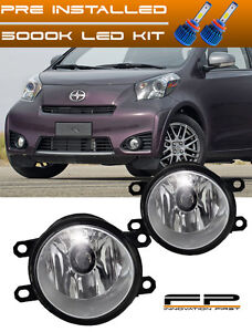 LED 2012-2015 Scion iQ Clear Lens Replacement Fog Light Housing Left and Right