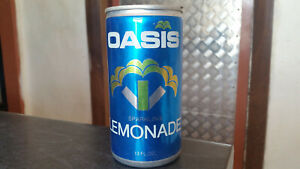 rare vintage oasis cool soft drink can