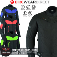 Motorbike Motorcycle Jacket Waterproof With CE Armour Protection Thermal Biker