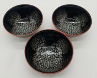 Disney Love, Mickey Set if 3 Tidbit Cerami Bowls Mickey Mouse Black, White & Red
