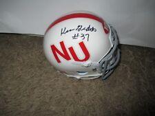 Nebraska Cornhuskers KEN GEDDES signed Mini Helmet