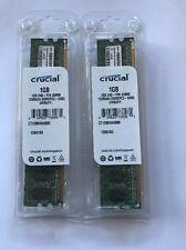 Crucial 2 GB DDR2 800 MHz DDR2 Memory (CT2KIT12864AA800)
