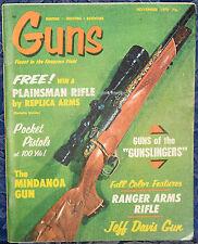 Magazine *GUNS*, November 1970 !HOPKINS & ALLEN O/U RIFLE! World's Finest KNIVES
