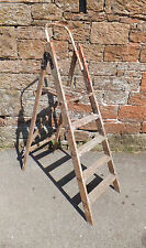 VINTAGE Wooden PORTABLE Decorating STEP LADDERS Folding UPCYCLE Wedding