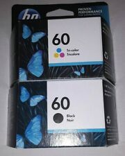 New Genuine HP 60 Black and TriColor Ink Cartridges (01/22)