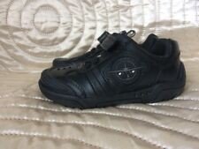 New Clarks Jet Infant Boys Real Leather Black School Shoes Strap 7.5 E UK 25 N