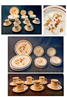 VINTAGE Four Seasons Dinnerware AUTUMN BOUQUET Stoneware 30-Piece Set JAPAN