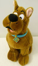 Scoobie Doo Plush Animal Dog 1998 Brown Sitting Hanna Barbara Blue Collar