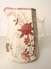 Hackwood and Keeling Clover Floral Pattern Water Jug Circa 1835-6