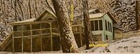 Billy Childish John Brewton house BC studio oversized rarity with COA 90cmx42cm
