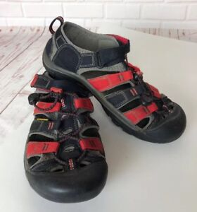 KEEN Newport H2 Water Sport Sandals Shoes Black Red Size 5