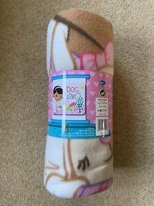 Doc McStuffins Fleece Blanket Kids Girls Bedroom Warm