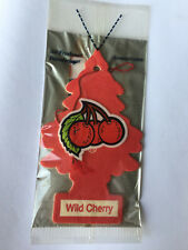 6 WILD CHERRY Scented Little Trees Car Air Fresheners Individually Sealed Cello