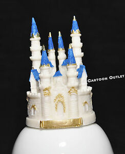 Wedding Princess Sweet 16 Cake Topper Birthday Party Quinceanera Blue Castle