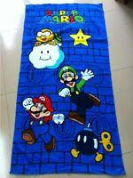 Nintendo Super Mario Beach Towel Bath Towel 100% Cotton 71cm*147cm