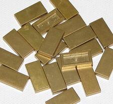 LEGO LOT OF 20 METALLIC GOLD 1 X 2 TILES MONEY GOLD BARS PIECES