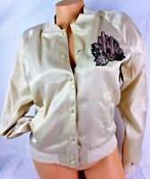VICTORIA'S SECRET PINK LINED BOMBER JACKET CACTUS DESERT NEW JA06