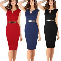 Elegant Women's Office Lady Formal Wear Business Work Party Pencil Dress Suit OL