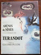 Programme Opéra / Arènes de Nîmes - Turandot / Giacomo Puccini - 1985