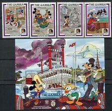 Gambia 1985 Frères Grimm Walt Disney + Paquet MNH Cat. Y.T 555-558 + 17
