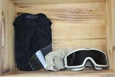 EUC Desert Sand Tan ESS GI Genuine Issue Goggles w Clear & Dark Lenses