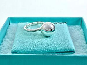 Tiffany & Co Sterling Silver AG 925 Hardware 12mm Sz 8 Bead Ball Earrings 20929B