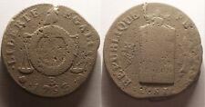 Révolution, Convention, 2 Sols aux Balances 1793 B Rouen, Rare !!