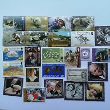 300 Different Ascension Island Stamp Collection