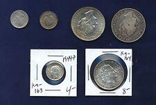 NETHERLANDS COINS: 10 CENTS: 1879 & 1944 (2), GULDEN: 1929, 1944-D, & 1957, LOT
