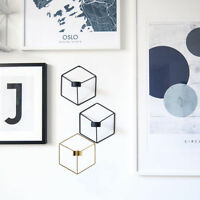 Nordic Style 3D Geometric Candlestick Metal Wall Candle Holder Sconce Home Decor
