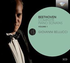 GIOVANNI BELLUCCI - PIANO SONATAS VOL.1 3 CD NEU BEETHOVEN,LUDWIG VAN