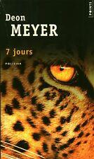 Livre de poche policier 7 jours Deon Meyer book